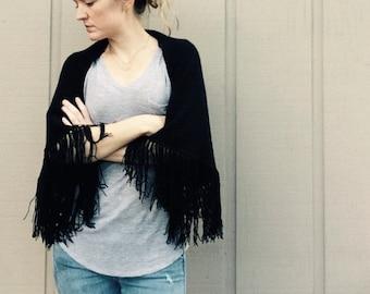 DIY Crochet Pattern: fringe shrug, cardigan, shawl, wrap, fringe,  easy crochet, InStAnT DoWnLoAd, The Seville Shrug