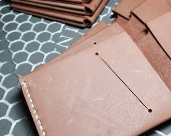 Bifold Distressed Leather Wallet Minimal Slim Wallet