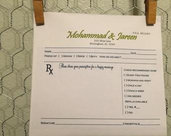 Customized wedding pad