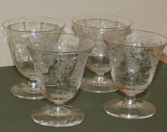 4 LOTUS Vesta 4 oz  Footed Juice/wine  glasses