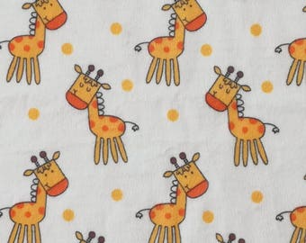 Baby Giraffe Soft & Comfy 57-inch Nursery Fleece Fabric sold by the yard