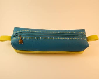pencil case, toiletry bag or shaving kit in imitation leather