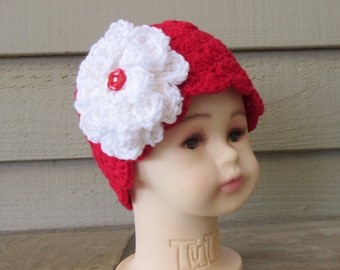 Hat With Flower For Little Girls