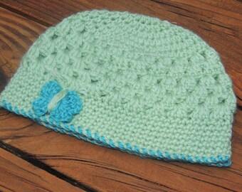 Crochet Butterfly Hat