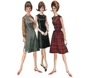60s A-line Dress Pattern SALE Jumper Dress vintage 38-30-40 Belted Dress pattern Sundress pattern Bust 38 McCalls 6959