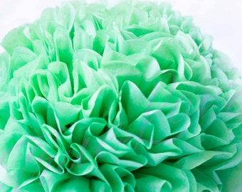 APPLE GREEN /  1 tissue paper Pompoms/single pompom/nursery room decoration/ baby shower/wedding/birthday/party/engagement/bridal shower/DIY