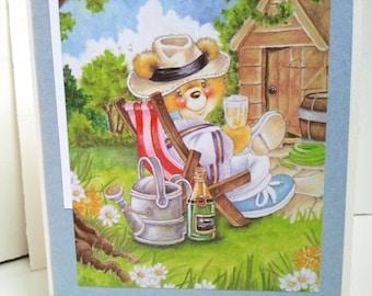 Happy birthday bear card
