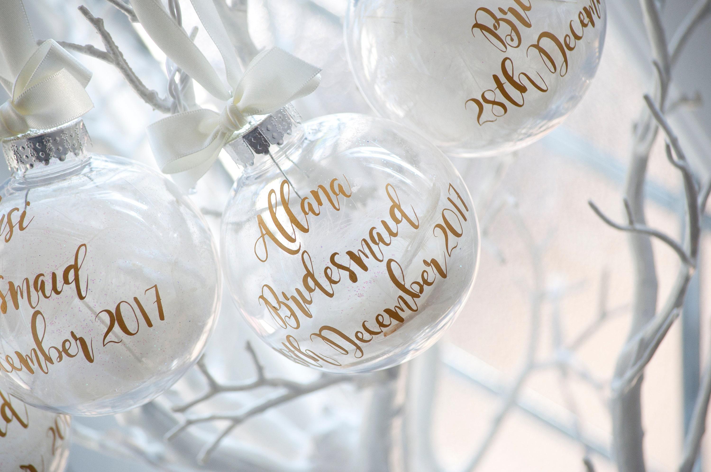Bridesmaids Personalised Christmas Bauble