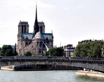 Canvas Print, Notre Dame, The River Seine, Paris Photography, Paris Art Print, Travel Fine Art Photograph, French Home Decor, Large Wall Art