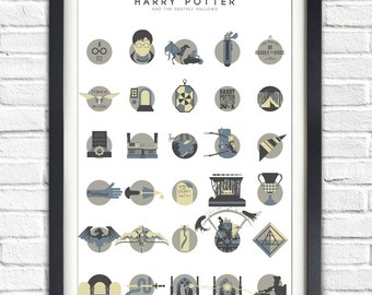 Harry Potter - 7 - The Deathly Hallows - ALTERNATIVE VERSION - 19x13 Poster