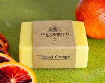 Blood Orange Soap / Essential Oil Soap / Handmade Cold Process Soap / Vegan Soap