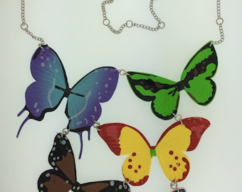 5 Butterfly Necklace