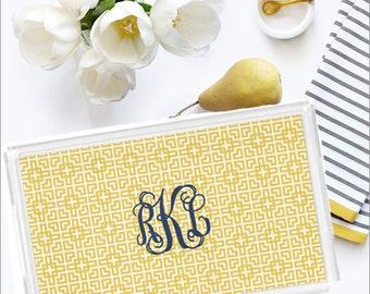 Personalized Lucite Tray - Vanity Tray - Monogram Acrylic Tray - New Couple Gift - Hostess Gift