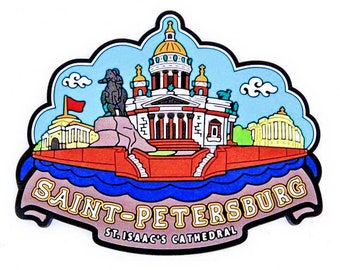Souvenir. 3D. a magnet on the fridge. attractions in St. Petersburg.Eraser .