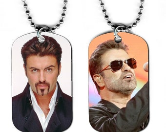 DOG TAG NECKLACE - George Michael #2 Pop Music Star Singer Wham!