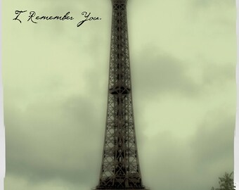 Paris photo - I Remember You - Fine art travel photography - French architecture - Vintage - Eiffel Tower