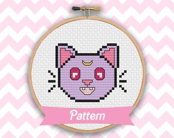 Sailor Moon Diana PDF mini cross stitch pattern