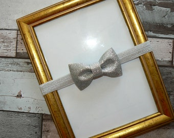 Glitter bow headband - several sizes available