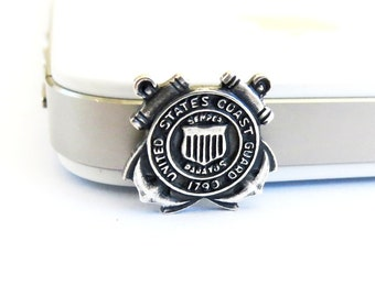 Coast Guard iPhone & Cell Phone Dust Plug Cellphone/ iPhone Accessories Silver