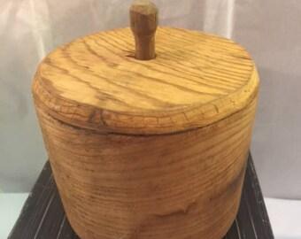 Handmade wood butter mold