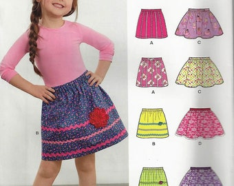 Simplicity New Look Learn To Sew Patterns so390/6409 Little Girls  Skirt  Size  3-8  Uncut Factory Folded
