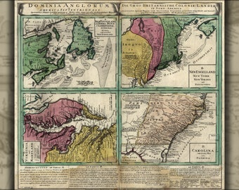 Poster, Many Sizes Available; Map Of America Pre United States 1759 In Latin