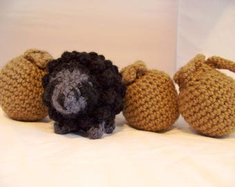 Ba Ba Black Sheep Cute Crocheted Stuffed Animal Childrens Toy