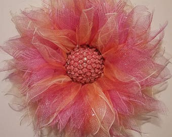 Ombre flower wreath