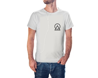 Triangle And Circle - Cool Modern T-Shirt - Tees with Vinyl (J409)
