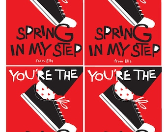 Spring in my step Custom Valentines Card collection PDF