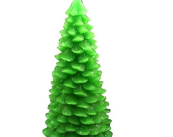 3D Christmas Tree Candle Mold Soap Moulds Flexible Silicone Mould For Handmade Soap Candle Candy Cake Fimo Resin Crafts