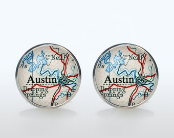 Custom cufflinks Custom Map Cuff links personalized Cufflinks personalized gift for boyfriend Christmas gift wedding cufflinks groom gift