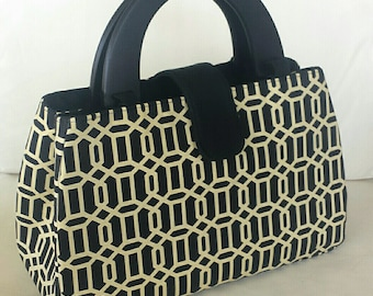 The Lucy Bag - Black and Cream