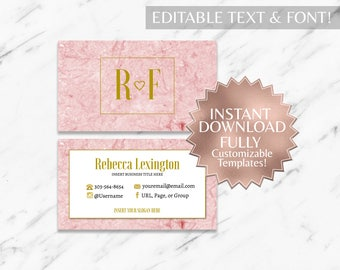 Pink Marble Business Cards | RF Business Cards | Rodan and Fields Business Cards | Marble Business Cards | Modern Business card | Template