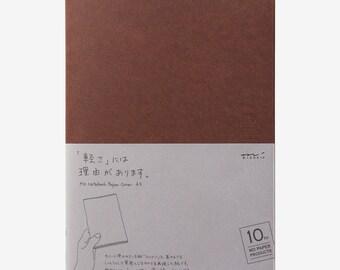 Midori MD Notebook Cover - 10th Anniversary Edition - A5 Dark Brown Paper