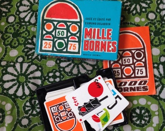 1000 miles 1960's retro vintage France game mythical french holiday friends nostalgia transport