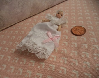 1:12 scale Dollhouse Porcelain Baby Girl