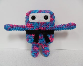 Mini Ninja Plush - Bonbon Print / Blue / Pink / Purple / Nerds Candy