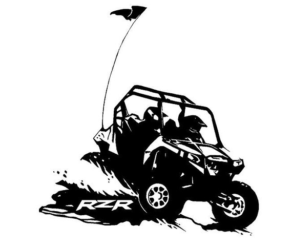 Truck Car Decal Polaris RZR Vinyl decal Outdoor vinyl