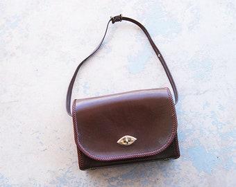 vintage 50s Snake Print Leather Purse - 1950s Western Purse Convertible Handbag Shoulder Bag Box Purse
