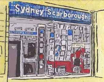 Sydney Scarborough records hull A3 silk/gloss poster print hull2017 from original acrylic painting