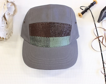 Cassette Tape, Camp hat with music woven in.