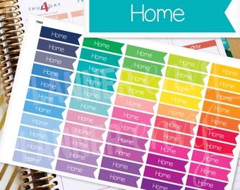 Planner Stickers Erin Condren Life Planner (Eclp) - 55 Home Flag Header Stickers (#7003)
