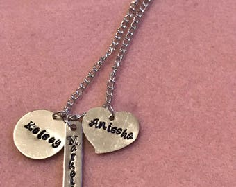 Mother's Hand Stamped Necklace