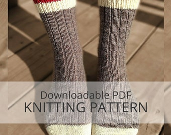 AVALON Ribbed Socks [downloadable PDF knitting pattern]