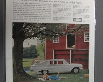 Chev #140  Chevrolet Kingswood Station Wagon     Magazine Ad -  June  1960