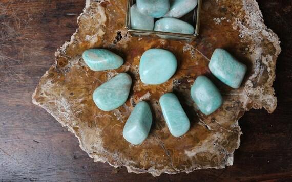 Amazonite Tumbled Stones, Polished Amazonite, Tumbled Amazonite, Crystal Grid, Heart Chakra Stone, Reiki Stone