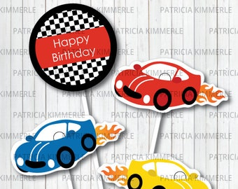 Centerpiece Printable, Cars, Race Car Party,Racing Club,Car Race, Motorsports, Race Car Driver, Birthday, Decorations, INSTANT DOWNLOAD