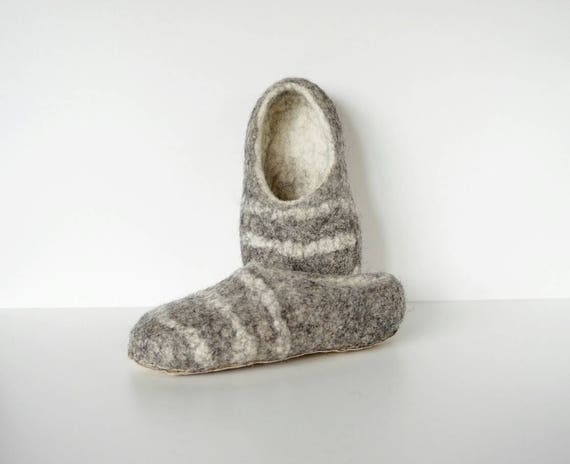slippers home Eco handmade gray slippers felt slippers Men handmade grey slippers unisex wool Felted white shoes wool home shoes qPTtnaw