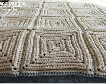 Download Now - Garden Maze Throw - Any Size - Pattern PDF